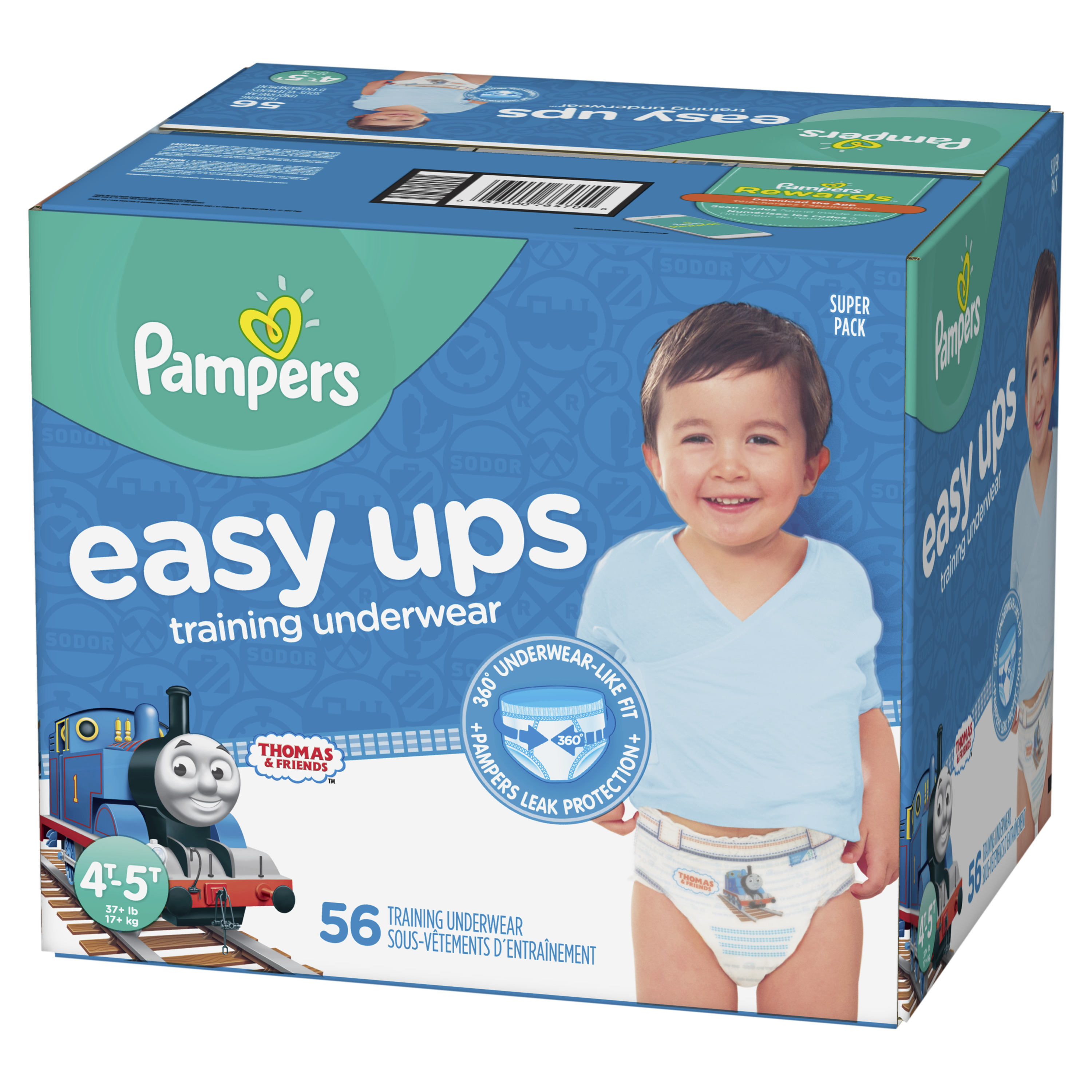 Pampers Easy Ups Training Underwear Boys Size 6 4T-5T 56 Count