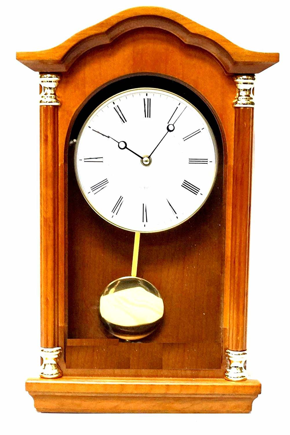Ju0026D Best Pendulum Wall Clock, Silent Decorative Wood Clock With Swinging  Pendulum, Battery Operated For Living Room, Kitchen, Office U0026 Home Décor ...