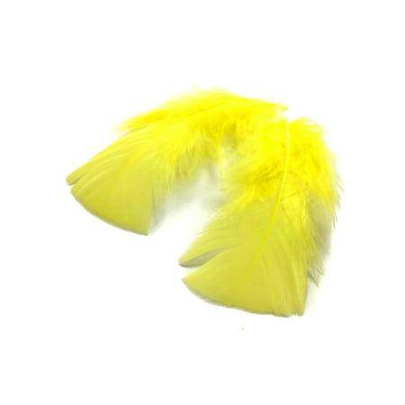 1 Pack - Yellow Turkey T-Base Plumage Feathers 0.50 Oz.