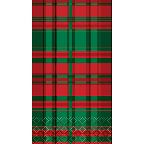 Poinsettia Plaid Holiday Paper Guest Napkins, 16-Count