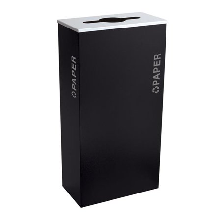 Ex-Cell Kasier RC-KD17-P BT-PBG 17 gal Kaleidoscope Black Tie Series Receptacle Paper Recyclable Bins, Black