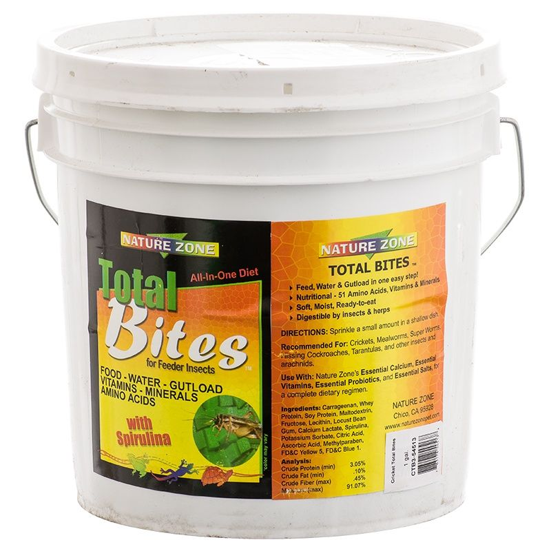 Nature Zone Total Bites for Crickets and Feeder Insects 1 Gallon
