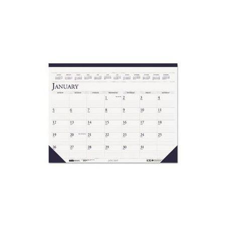 Two-Color Academic 14-Month Desk Pad Calendar, 22 x 17
