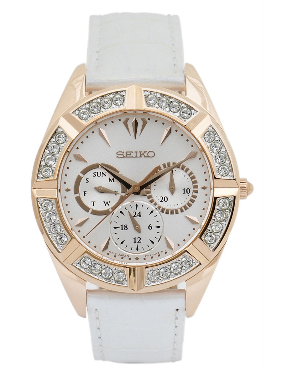 Seiko Women's SKY682P1 Quartz Gold Plated White