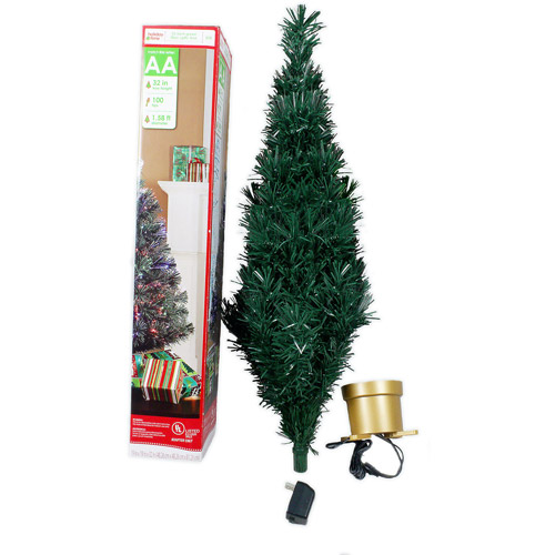 Holiday Time Pre-Lit 2.5' Fiber Optic Artificial Christmas Tree ...