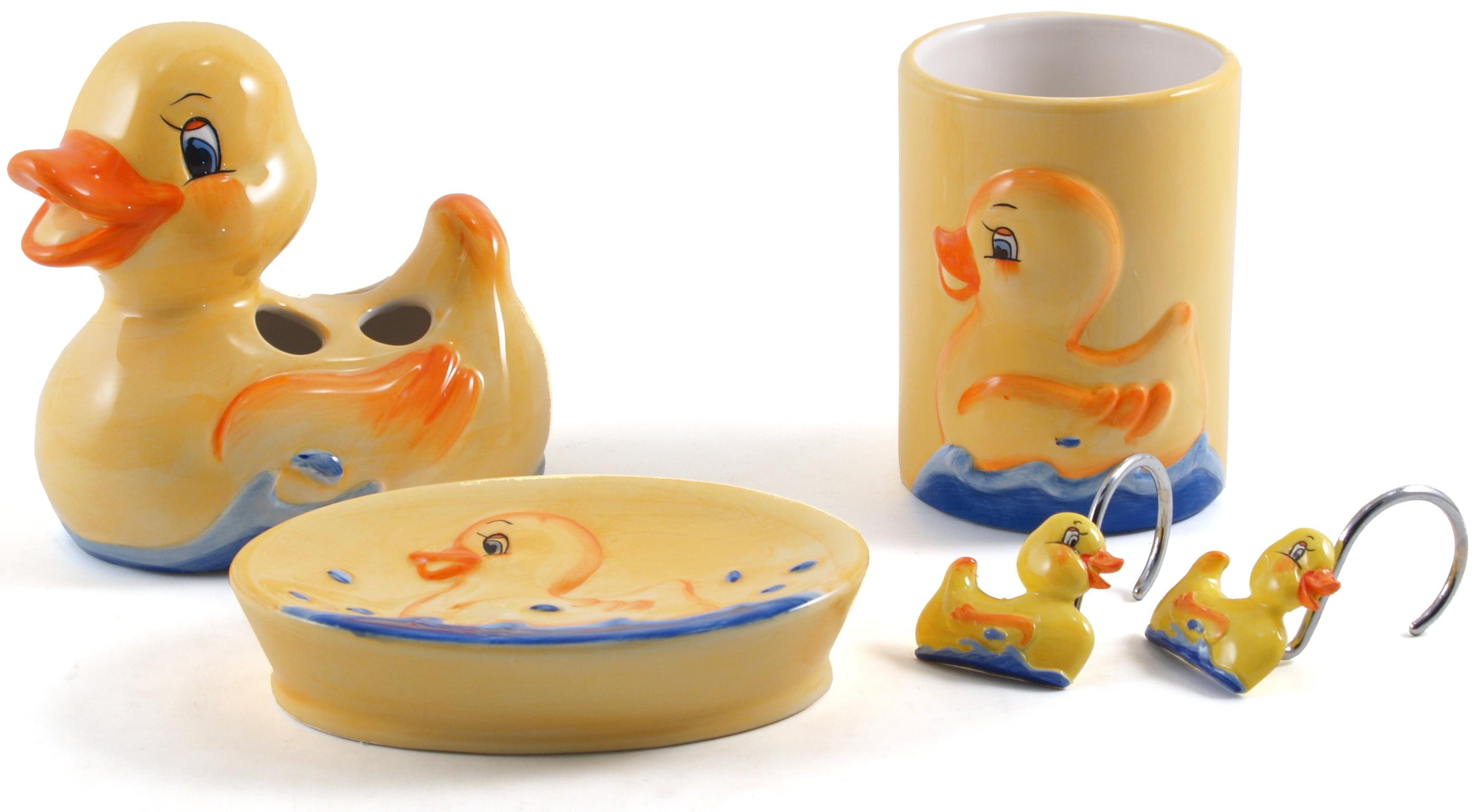 Rubber Ducky Ceramic Bathroom Accessory 12 Piece Set - Walmart.com