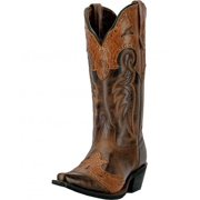 Western Boots Womens 12 Shaft Ramona Leather Snip Brown 52035