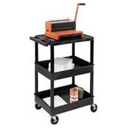 Luxor Flat Top and Tub Middle and Bottom Shelves Cart ()