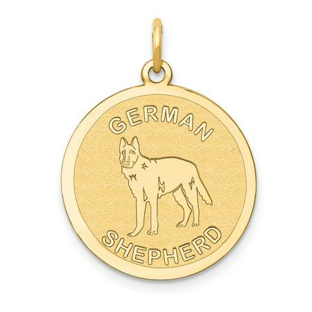 14K Yellow Gold German Shepherd Disc Charm - image 1 of 1