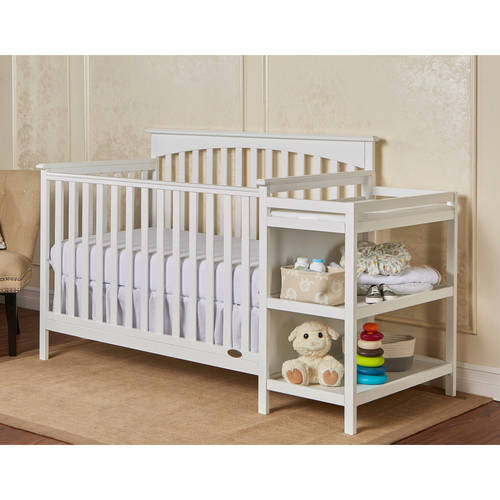 Dream on Me Chloe 5-in-1 Convertible Crib with Changer, Choose Your Finish