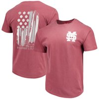 Mississippi State Bulldogs Baseball Flag Comfort Colors T-Shirt - Maroon