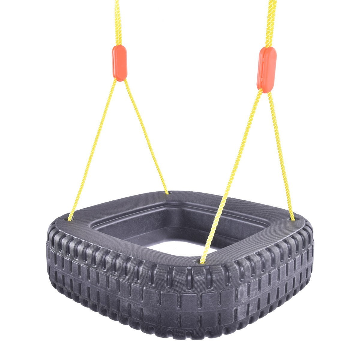 Classic Tire Swing 2 Kids Children Outdoor Play Durable Backyard Swing Set