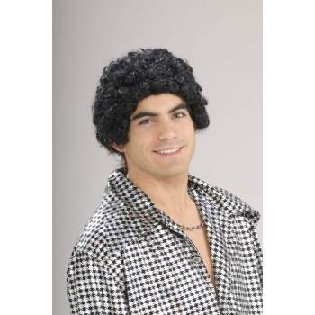 Disco Short Afro Adult Halloween Costume Accessory Wig - Disco Afro Wig