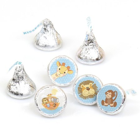 Noah's Ark - Party Round Candy Sticker Favors Labels Fit Hershey's Kisses (1 sheet of 108) (Noah's Ark Party Supplies)