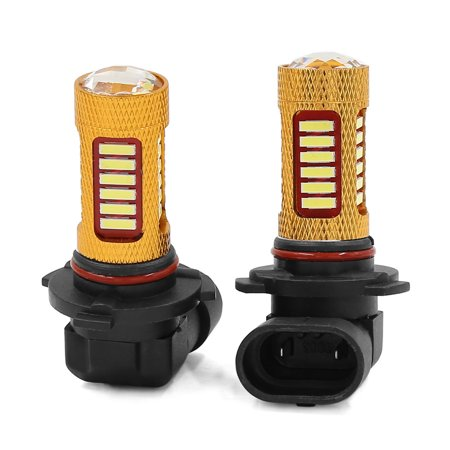 2 Pcs 9006 HB4 9012 White 27 SMD LED DRL Fog Head Light Lamp Blub