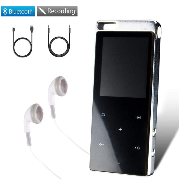 16gb Mp3 Players Large Screen Music Player With Bluetooth 4 2 Portable Lossless Sound Mp3 Player Music Headphones Walmart Com Walmart Com