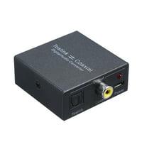 Digital 2-Way Audio Converter Optical SPDIF Toslink to Coaxial and Coaxial to Optical SPDIF Toslink Bi-Directional Swtich Digital Audio Converter Splitter Adapter