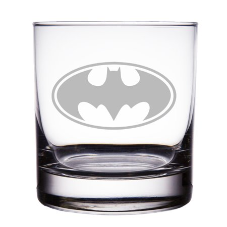 Batman Engraved 10 oz Rock (Engraved Glass Piece)