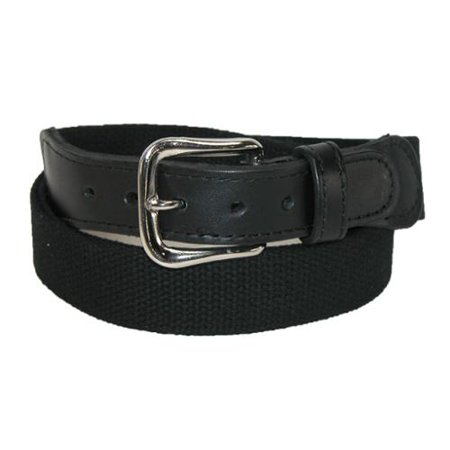 Men's Big & Tall Cotton Fabric Belt with Leather Tabs