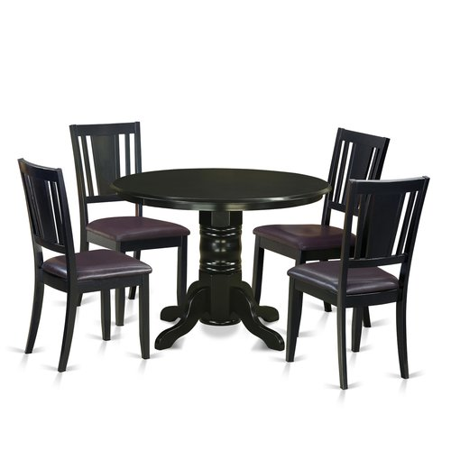 August Grove Sherlock 5 Piece Solid Wood Dining Set