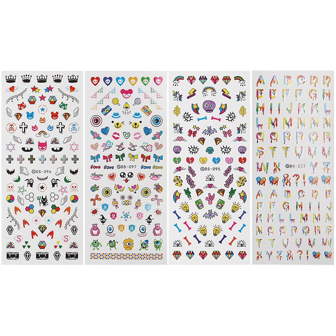 Maniology (formerly bmc) 4 Sheet EDM Festival Themed Water Transfer Nail Art Decal Set - Musik City