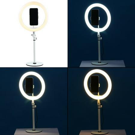 "10 ""LED Ring Light Fill Light Dimmable Lampe Studio Photo Téléphone Vidéo Live Photographie Selfie Light avec câble USB - image 3 of 7"