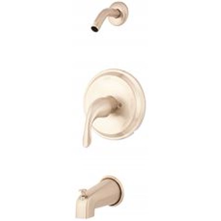 Trim Kit Less Handle (Viper Tub And Shower Trim Kit With Diverter On Valve, Less Showerhead, One Handle, Brushed Nickel )