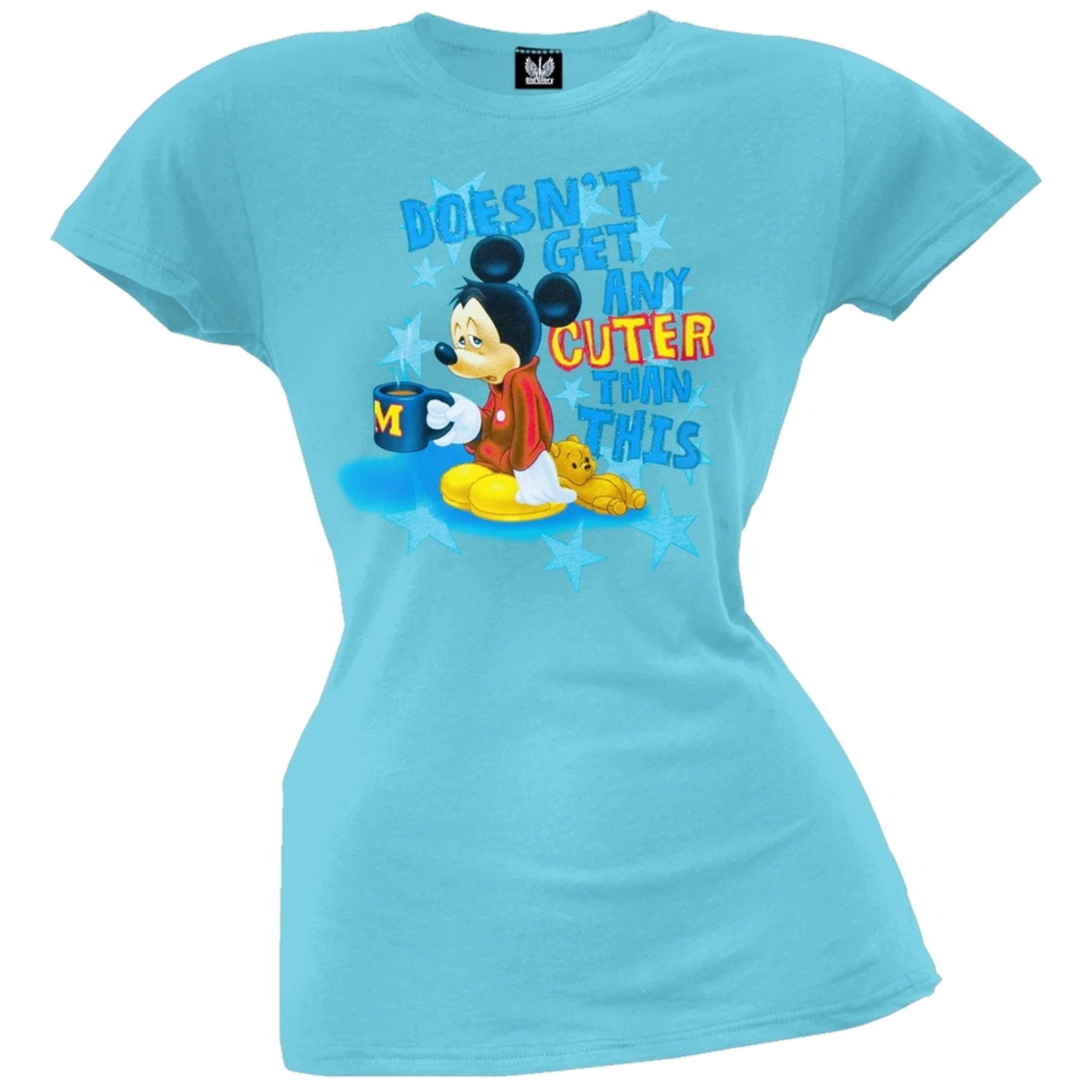 Mickey Mouse - Morning Coffee Juniors T-Shirt