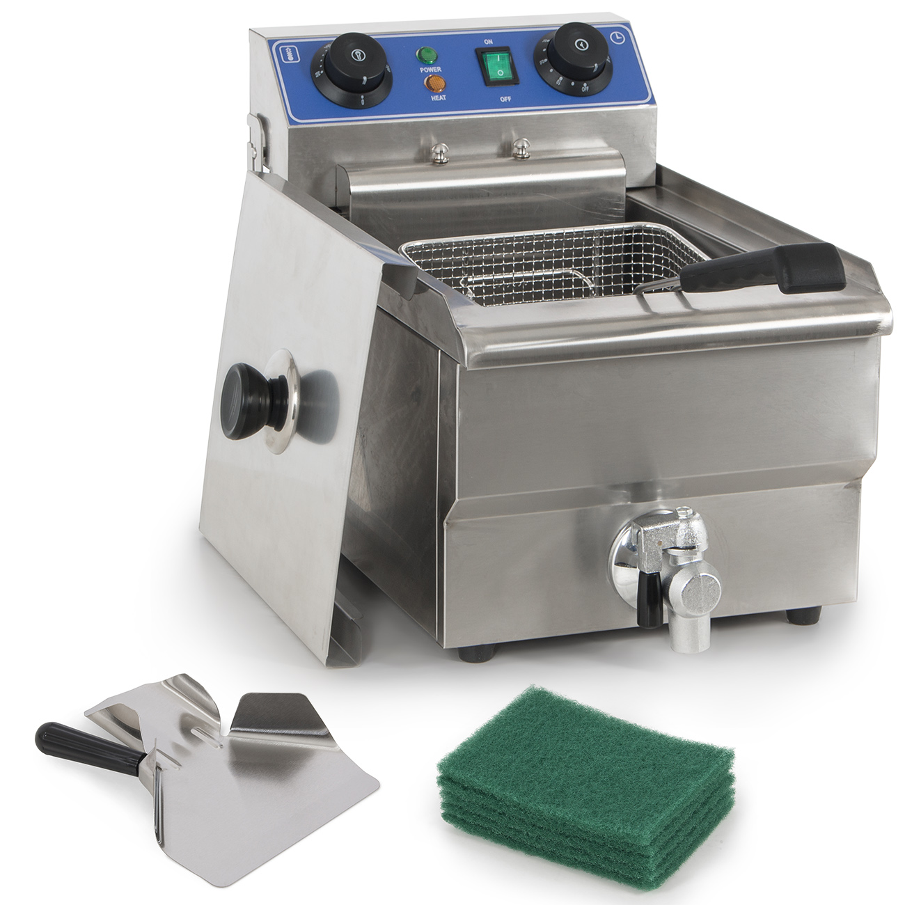 Arksen 1500W Stainless Steel 10 Liter Electric Deep Fryer