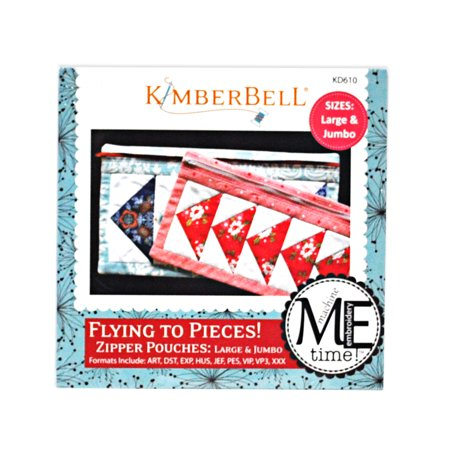 KimberBell Flying to Pieces! Zipper Pouches: Large & Jumbo - Kimberbell Halloween