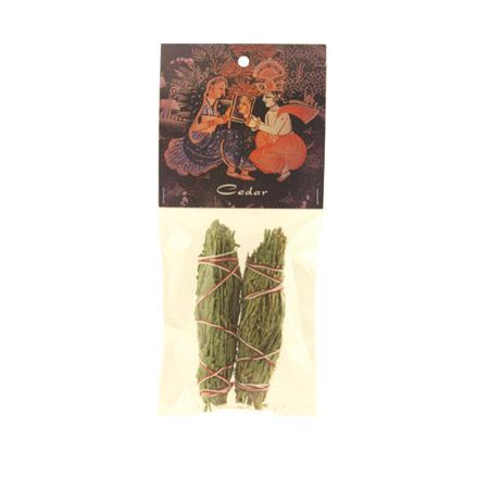 Smudging Herbs - Cedar Smudge Stick - 2 Mini Bundles