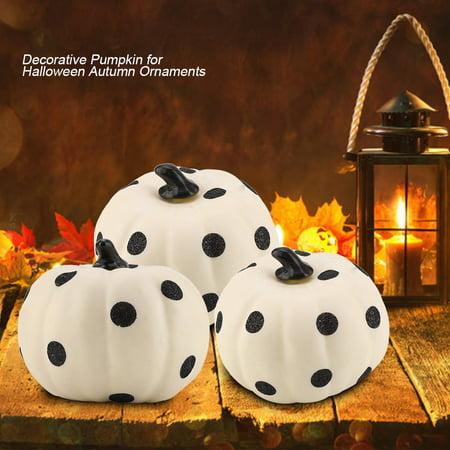 Ejoyous PVC Dots Pattern Decorative Pumpkin for Halloween Autumn Fall Ornament Tabletop Decor,Decorative Pumpkin, Decor Pumpkin for Halloween