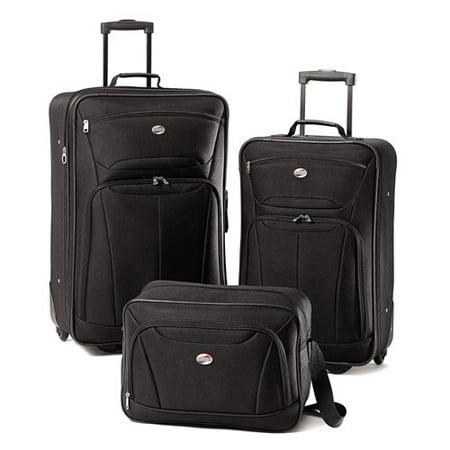 fde0976f0a American Tourister - American Tourister Fieldbrook 3 Piece Softside Luggage  Set - Walmart.com