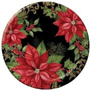"""Club Pack of 96 Holiday Elegance Round Premium Strength Disposable Banquet Plates 10"""""""