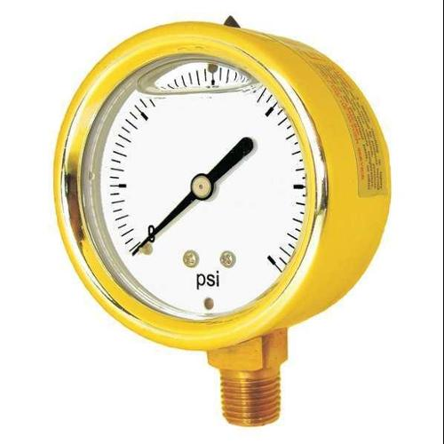 "Pic Gauges Pressure Gauge 1/4"" NPT 0 to 200 psi 2-1/2"" 601L-254G"