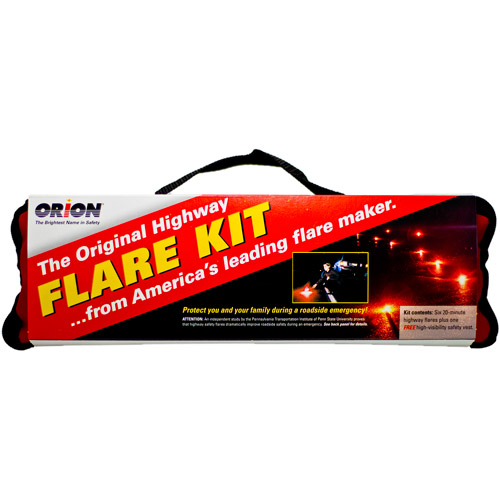 Orion Safety Products 20-Minute Flares with Orange Vest, 6pk