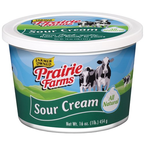 Prairie Farms All Natural Sour Cream, 16 Oz.