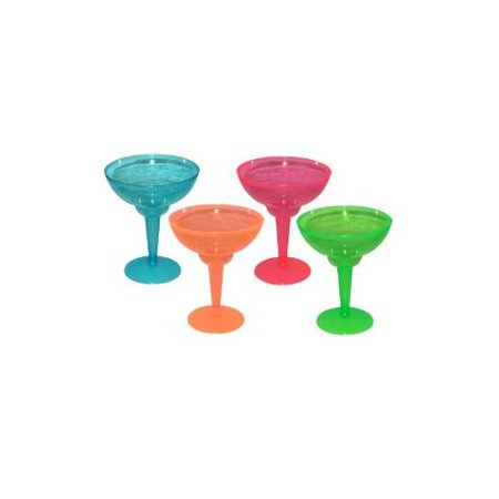 Assorted Neon Blacklight Reactive 12 Ounce Margarita Glasses - 12 (Mary Margaret Once Upon A Time Fashion)