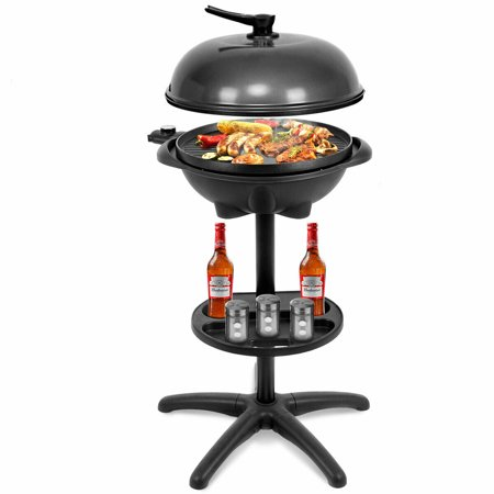 Costway Electric BBQ Grill 1350W Non-stick 4 Temperature Setting Outdoor Garden Camping ()