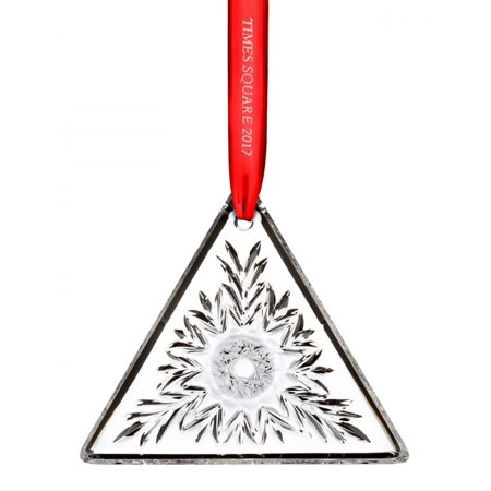 2017 Waterford Times Square Gift of Kindness Triangle Crystal Christmas (Triangle Gift)