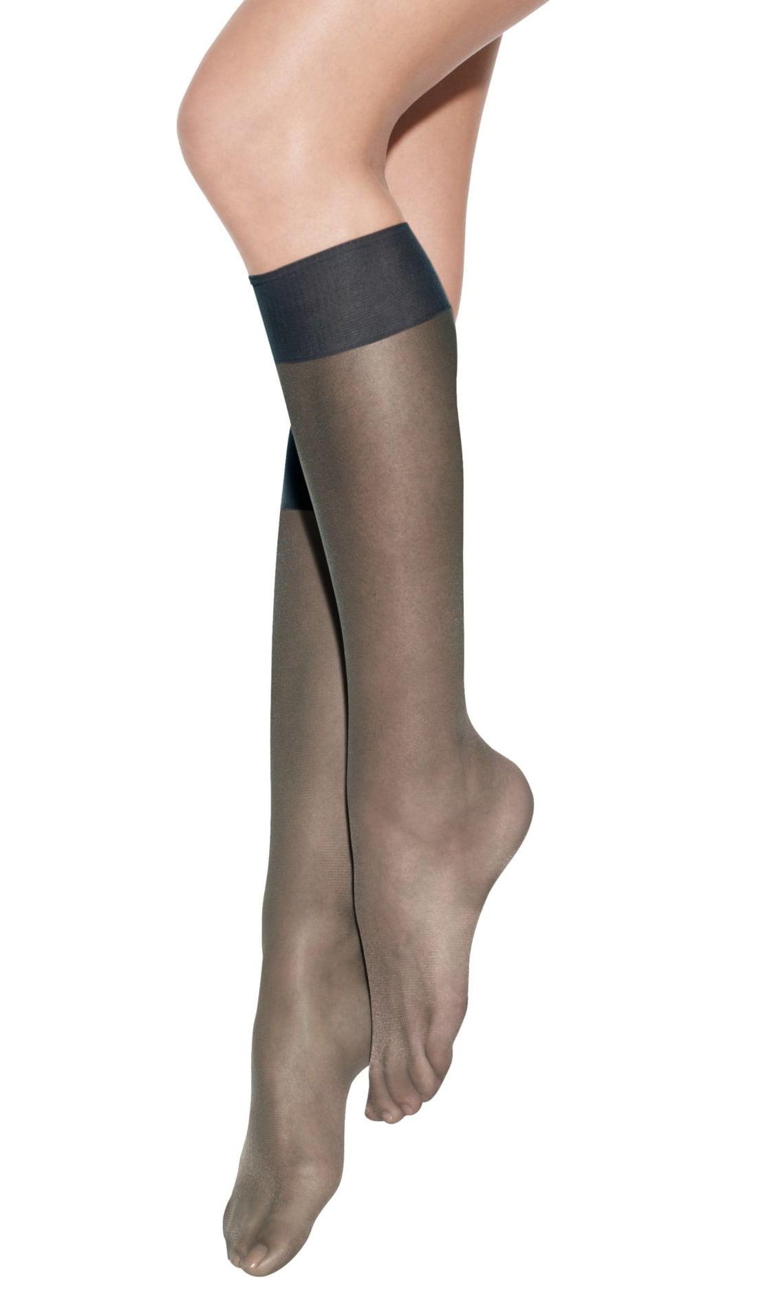 20809d155 Hanes - Silk Reflections Women`s Pure Bliss Luxe Sheer Knee Highs ...