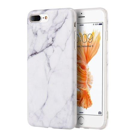(Luxury Marble Design Pattern Soft TPU Phone Case Cover for Apple iPhone 6 / iPhone 6s / iPhone 7 / iPhone 8 4.7inch - WHITE)