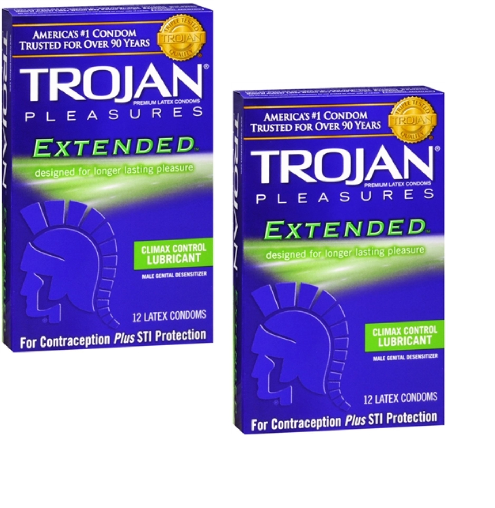 8 Pack - TROJAN Extended Pleasure Climax Control