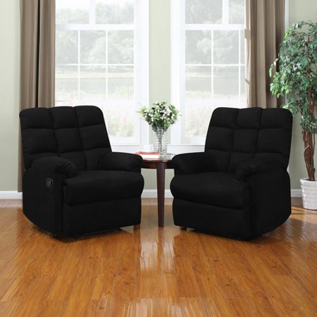 ProLounger Wall Hugger Microfiber Recliner Set of 2, Multiple
