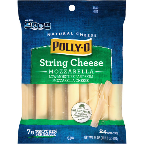 Polly-O Mozzarella String Cheese, 24 count, 24 oz