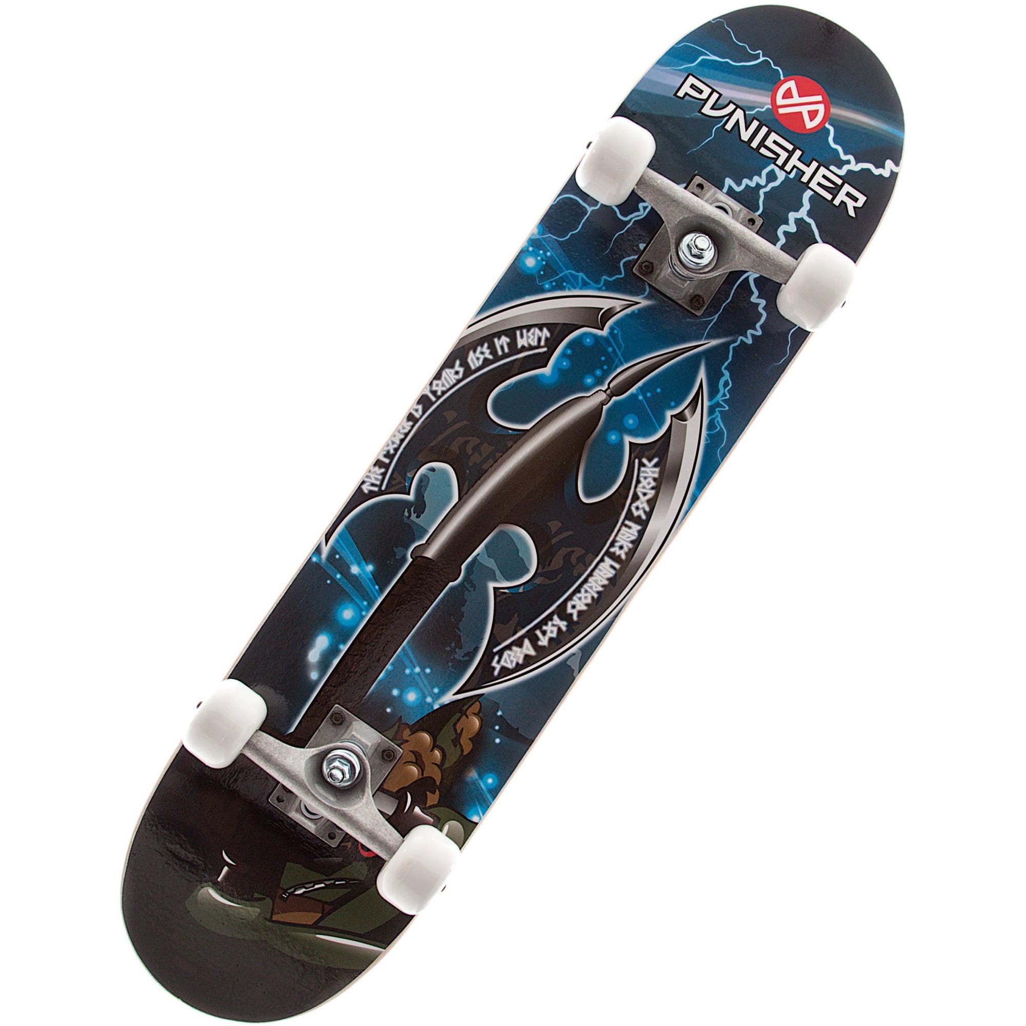 """Punisher Skateboards Warrior 31.5"""" ABEC-7 Complete Skateboard by Punisher Skateboards"""