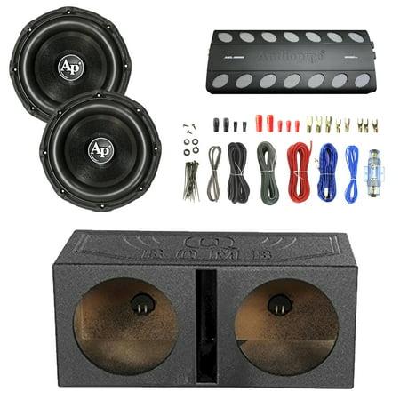 audiopipe 1800w class d amplifier 2x audiopipe 15 triple stack subwoofer enrock audio 18 awg. Black Bedroom Furniture Sets. Home Design Ideas
