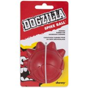 Dogzilla 52048 Dogzilla Red Rubber Spike Ball Dog Toy