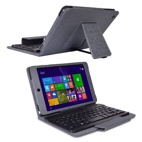 "Nobis NBW7800C Atom Z3735G Quad-Core 1.33GHz 1GB 16GB 7.85"" Capacitive Touchscreen Tablet W8.1 w/Cams & Keyboard/Case"