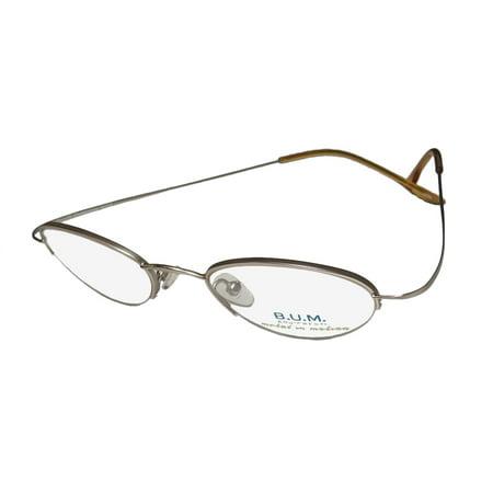 f3a694eeba08 New B.u.m. Equipment Expression Mens Womens Designer Half-Rim Champagne Gold  Hip Unique Design Frame Demo Lenses 47-20-135 Eyeglasses Spectacles -  Walmart. ...